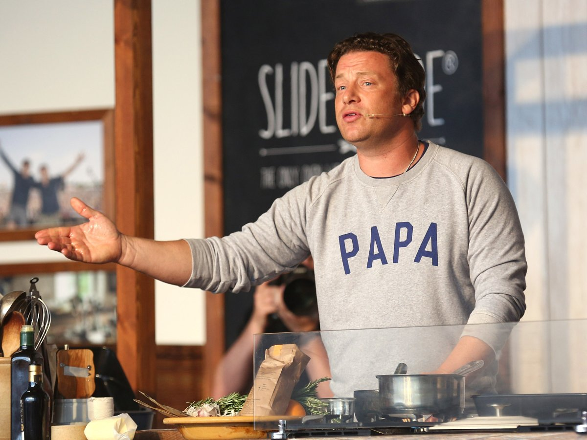 """Jamie Oliver credits the revolutionary change he made to a traditional paella recipe to an unnamed """"nonna."""" ."""