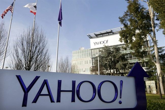 """This Jan. 14, 2015 file photo shows Yahoo's headquarters in Sunnyvale, Calif. According to a Reuters report published Tuesday, Oct. 4, 2016, Yahoo reportedly scanned hundreds of millions of email accounts at the behest of U.S. intelligence or law enforcement. The scans reportedly selected messages that contained a string of unknown characters. Yahoo did not deny the report, saying only that it is a """"law abiding company, and complies with the laws of the United States."""" (AP Photo/Marcio Jose Sanchez, File)."""