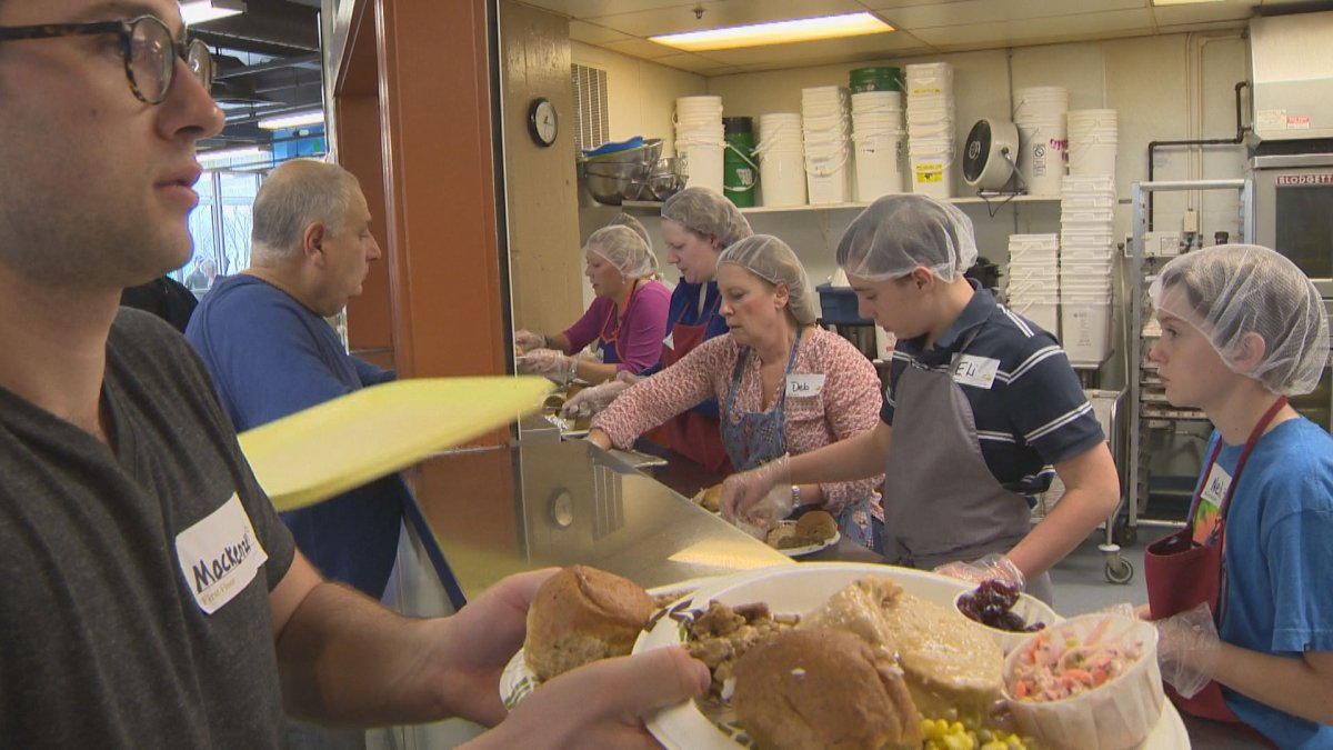 Siloam Mission prepares for up to 1200 visitors on Thanksgiving Monday.