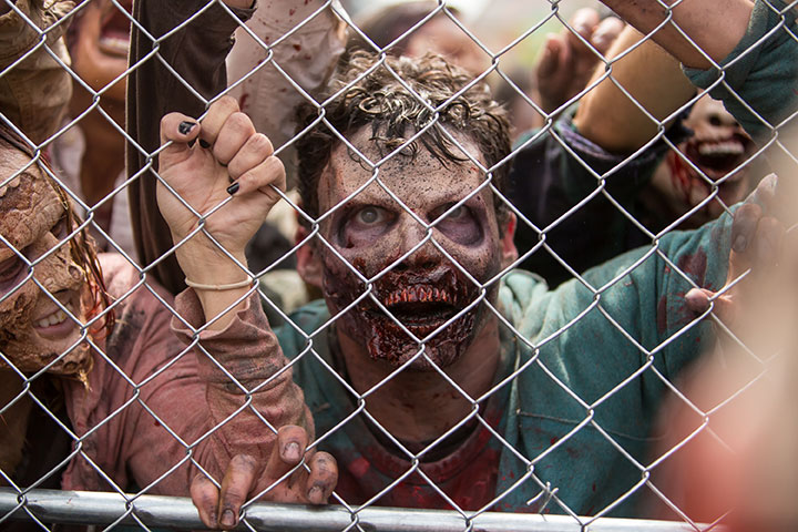 """'The Walking Dead' attraction 'Don't Open, Dead Inside' at Universal Studios, California. We're fascinated with zombies, but could the """"undead"""" ever happen?."""