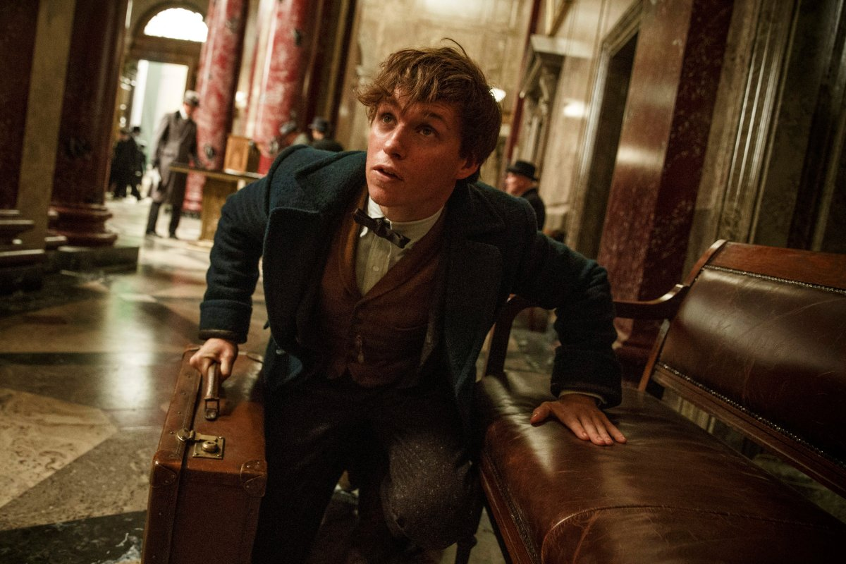 "This image released by Warner Bros. Entertainment shows Eddie Redmayne in a scene from, ""Fantastic Beasts and Where to Find Them."" (."