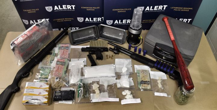 Seven people were arrested after members of the Alberta Law Enforcement Response Teams (ALERT) searched four Grande Prairie homes on Nov. 16, 2016.