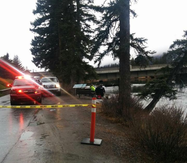 RCMP said a deceased male was found in the Bow River in Banff on Monday, Nov. 14, 2016.