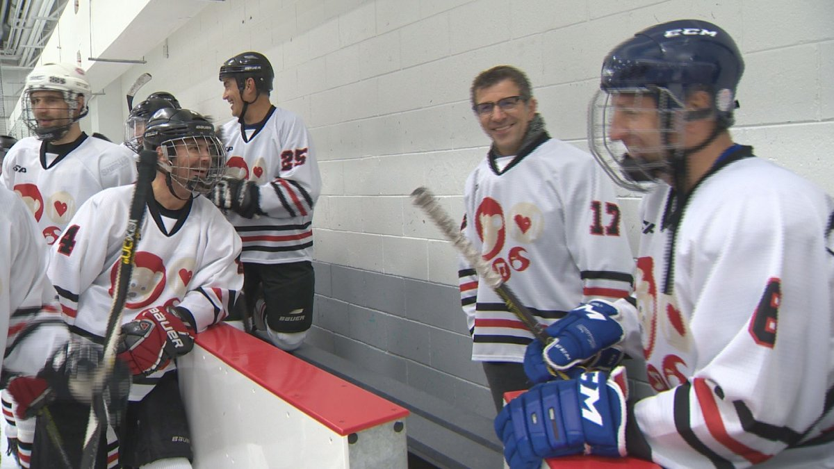Marc Bergevin is behind the bench for Partageons la Puck, a hockey fundraiser benefitting Share the Warmth. Saturday, Oct. 12, 2016.