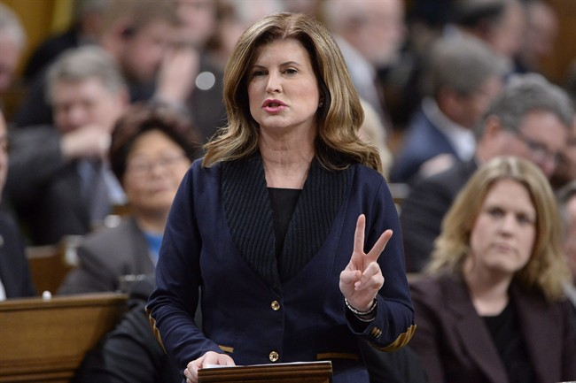Interim Conservative Leader Rona Ambrose asks a question during question period in the House of Commons on Parliament Hill in Ottawa on Wednesday, November 16, 2016.