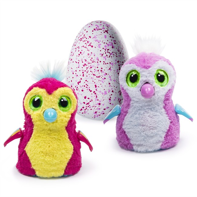 Hatchimals are shown in this undated handout photo. The overwhelming popularity of this season's hottest toy, Hatchimals, has taken many by surprise -- including its Toronto-based toymaker, Spin Master. The furry, robotic bird-like toy animals that hatch from an egg when rubbed have been selling out at stores across North America, Europe and Japan since its launch on Oct. 7. THE CANADIAN PRESS/HO - Spin Master .