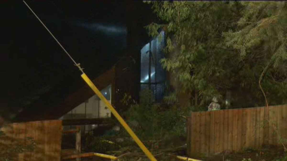 Fire crews were called to the home around 10:30 p.m.