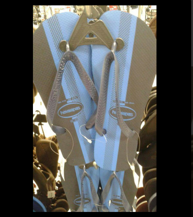 Are these flip-flops white and gold or blue and brown?.