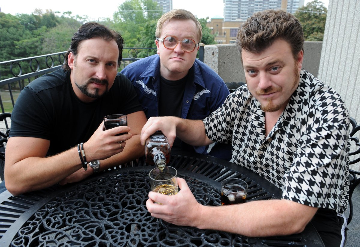 Trailer Park Boys in Toronto promoting new movie Count Down To Liquor Day.