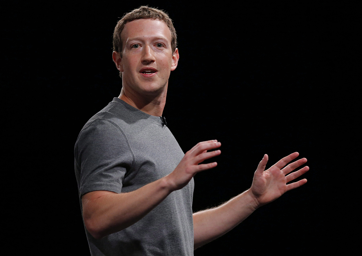 This Feb. 21, 2016, file photo sshows Facebook CEO Mark Zuckerberg speaking during the Samsung Galaxy Unpacked 2016 event in Barcelona, Spain.