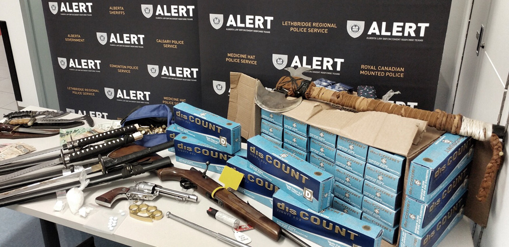 Eight people were arrested in connection with an ALERT drug trafficking investigation that took place in southeastern Alberta. Searches were conducted in Medicine Hat and Tilley, Alta.