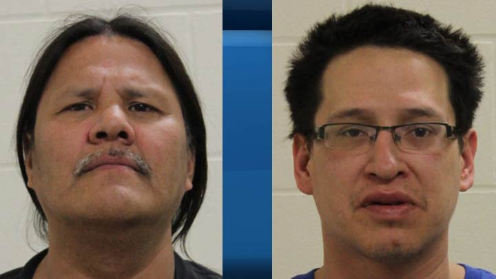 Punnichy, Sask., RCMP is seeking the public's assistance in locating Darryl Longman (left) and Shawn Lacquette (right), who have outstanding warrants.