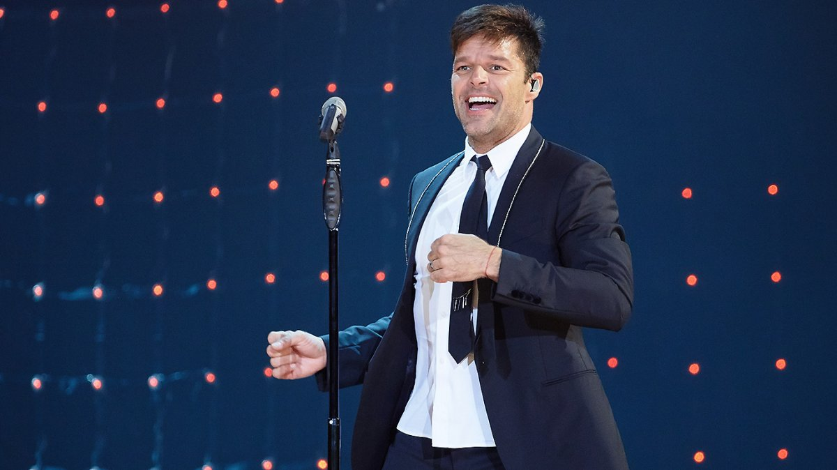 Ricky Martin performs on stage as part of his One World Tour at the VTB Ice Palace on September 20, 2016 in Moscow, Russia.