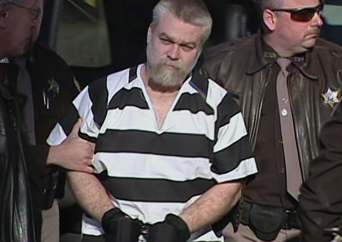 """Steven Avery is seen in a still image made from video from part of the true crime series """"Making a Murderer"""" in a handout image."""