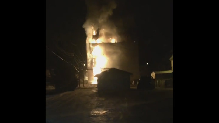 Fire has destroyed the grain elevator in Turtleford, Sask.