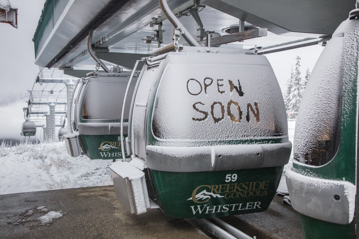 Whistler Mountain opens today, one day early.