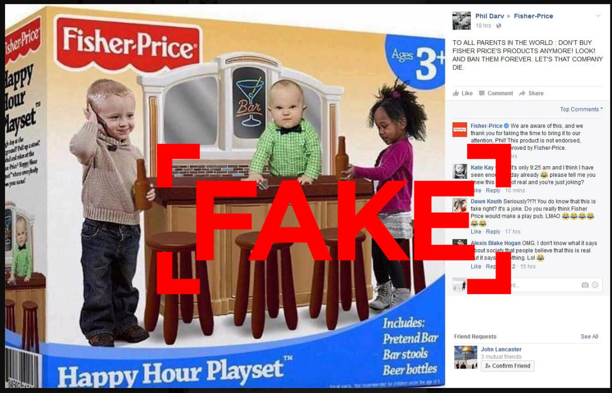 Is Fisher-Price marketing a bar game for preschoolers? As you might expect, no.