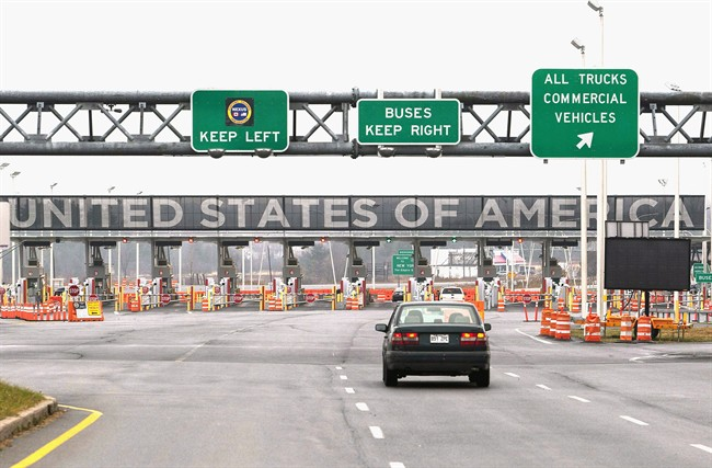 A file photo of the United States border crossing at Saint-Bernard-de-Lacolle.