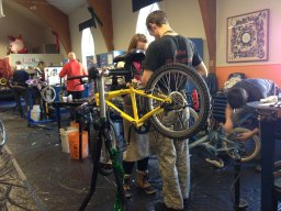 Continue reading: Bike-building marathon turns scrap into gifts for kids in need