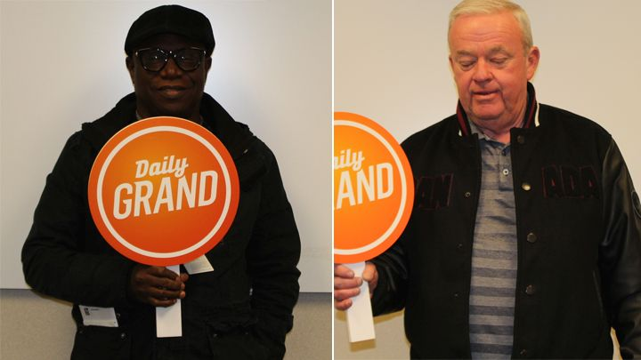 Emmanuel Awuni and James Jewell each won the Daily Grand's second top prize for November 2016 draws.