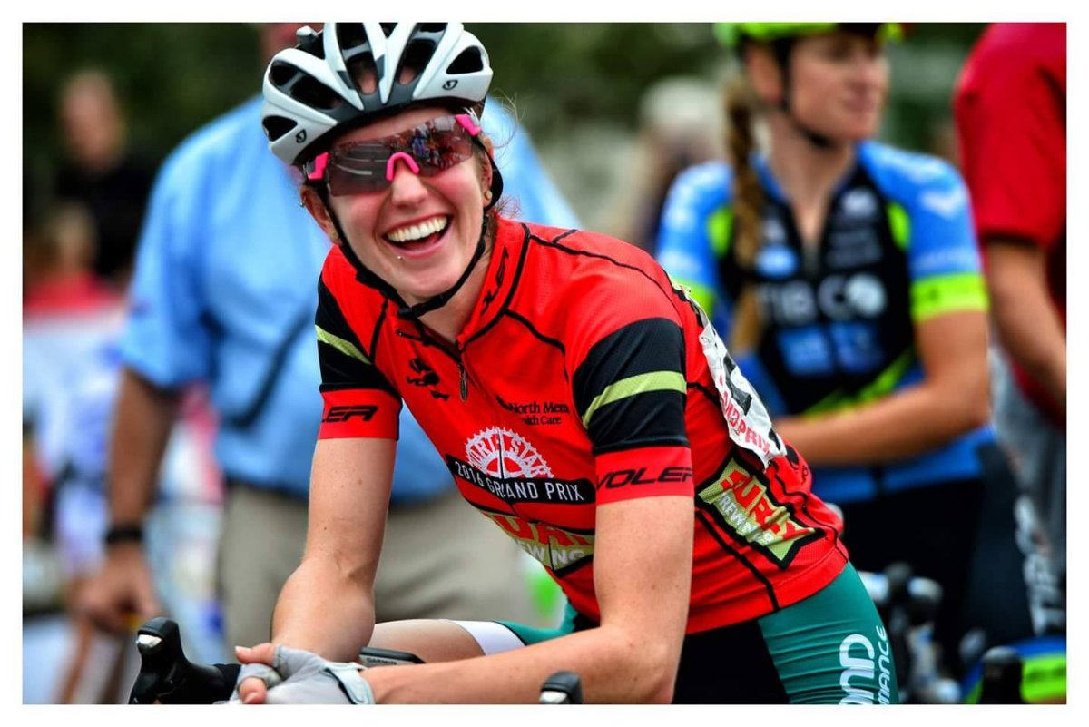 "New Brunswick cyclist Ellen Watters is pictured in this handout photo her friend says was ""one of her favourites.""."