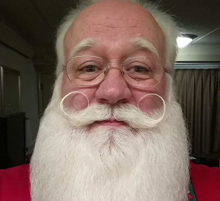 Eric Schmitt-Matzen is a professionally trained Santa actor who works about 80 engagements a year as Father Christmas. His wife, Sharon, often plays Mrs. Claus.