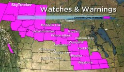 Continue reading: Extreme cold warning ended for city of Saskatoon