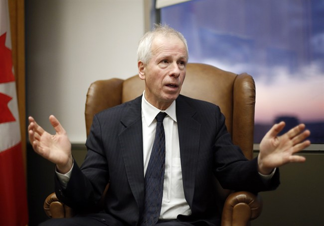 Foreign Affairs Minister Stephane Dion is shown during an interview in his office in Ottawa, Monday, December 19, 2016.