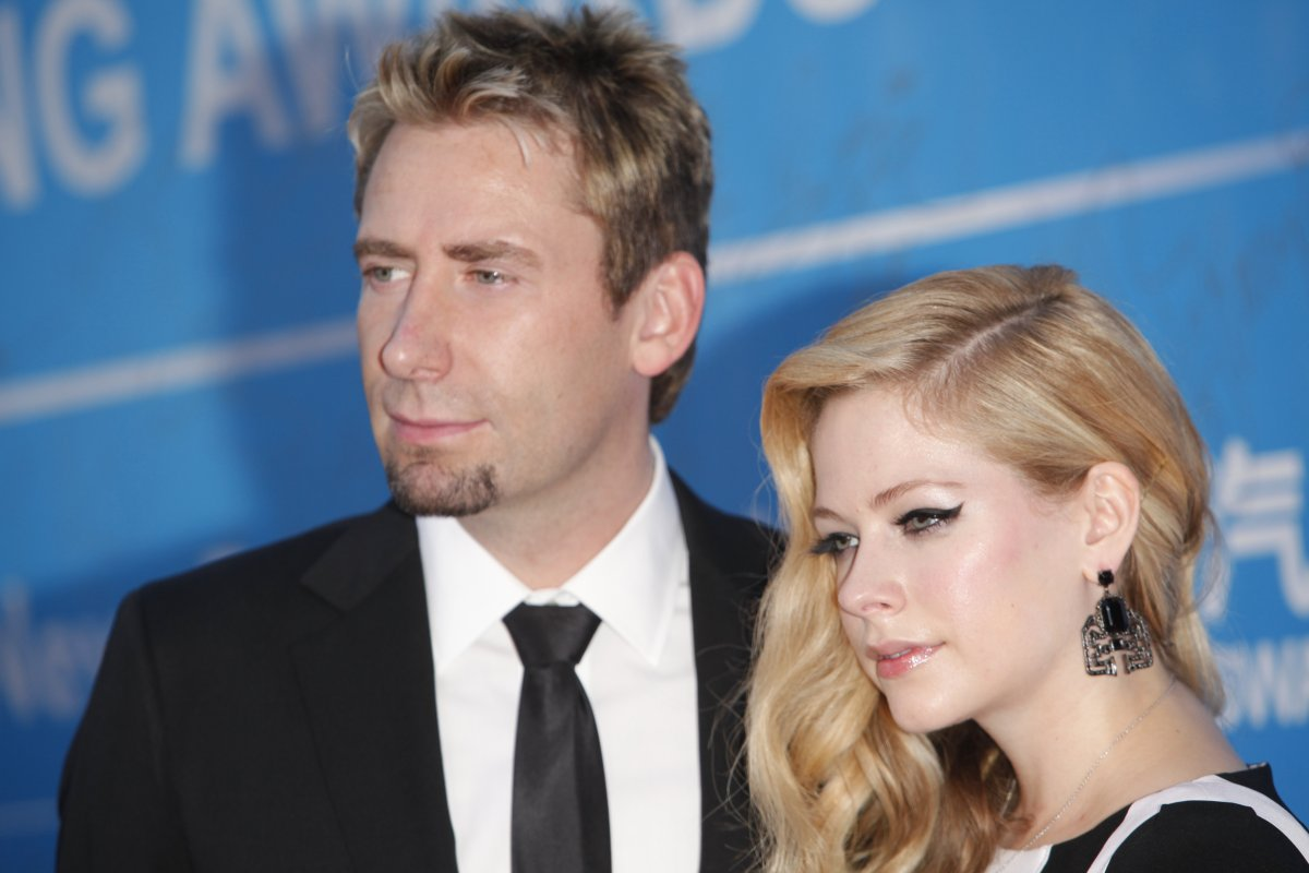 Singer Avril Lavigne and her ex-husband Chad Kroeger attend the 2013 Huading Awards ceremony at The Venetian on October 7, 2013 in Macau, Macau.