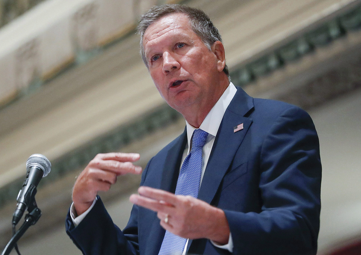 In this Aug. 25, 2016, file photo, Ohio Gov. John Kasich speaks in Cincinnati. Kasich on Dec. 6, advised state electors not to vote for him in an anti-Donald Trump protest.