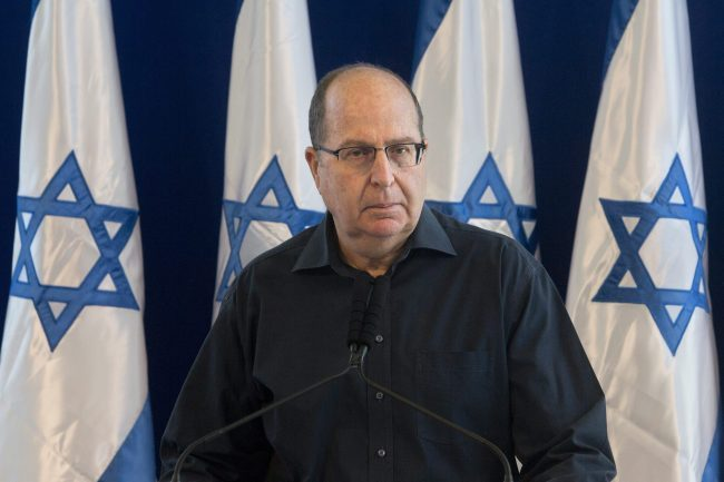Israel's former Defense Minister Moshe Yaalon, seen here in a May 20, 2016 file photo, was falsely quoted in the AWD News fake story.