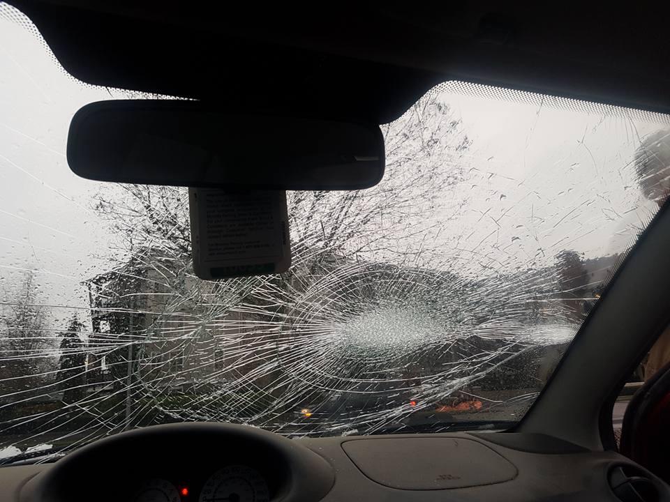 Port Mann Bridge ice bomb 2016