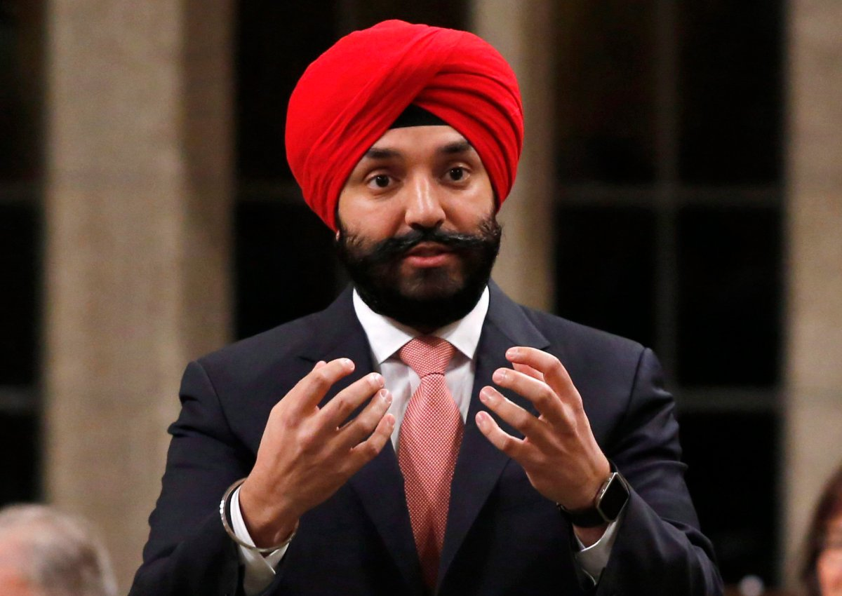 Minister of Innovation, Science and Economic Development Navdeep Bains stands in the House of Commons during question period, in Ottawa on Friday, December 9, 2016.