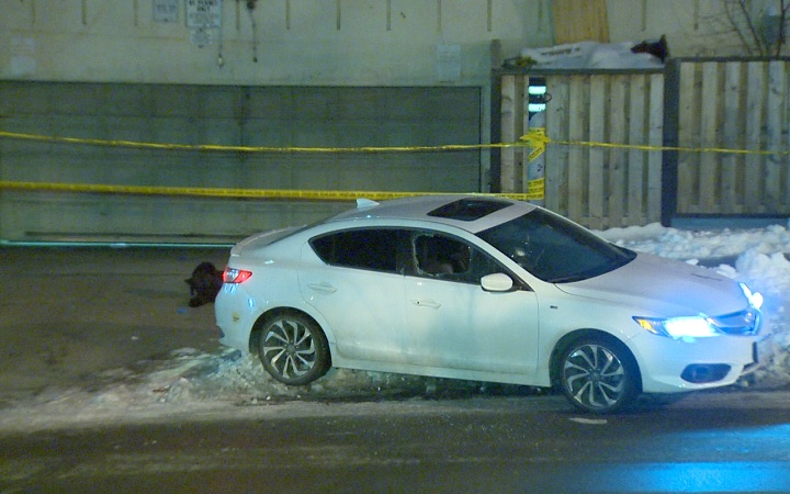 Police investigate a shooting in North York on Dec. 14, 2016.