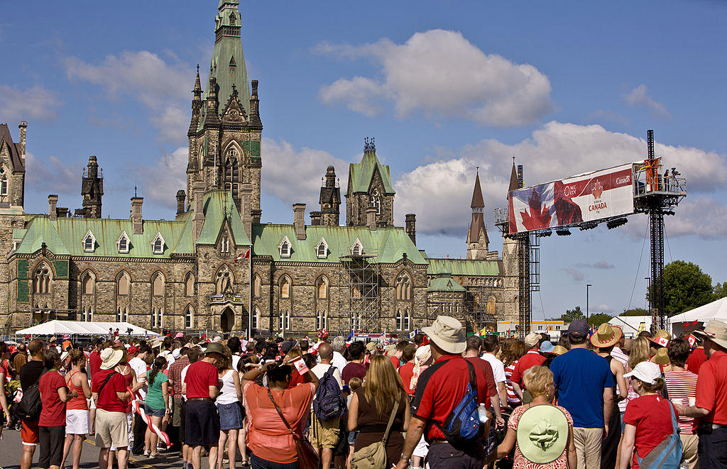 Thousands gather on Parliament Hill in Ottawa to celebrate Canada Day.