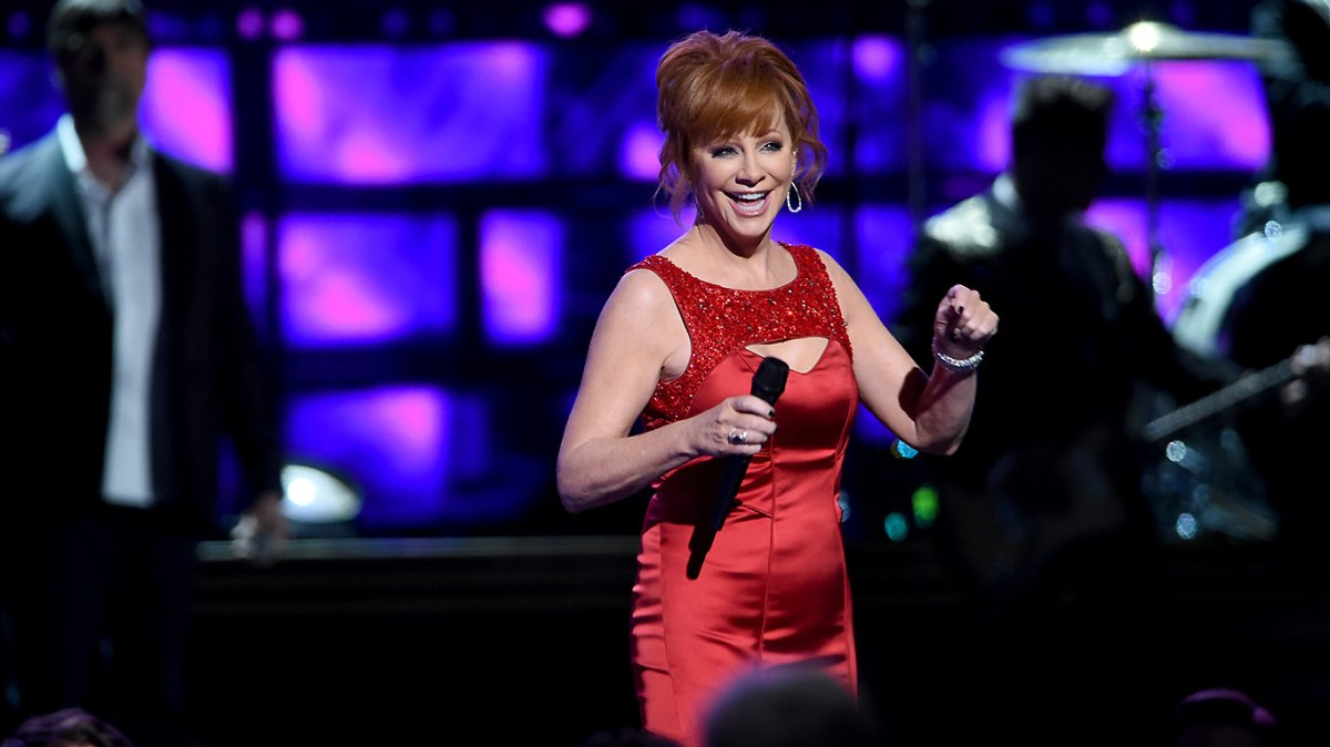Singer Reba McEntire performs onstage at the 50th annual CMA Awards at the Bridgestone Arena on November 2, 2016 in Nashville, Tennessee.  (Photo by).