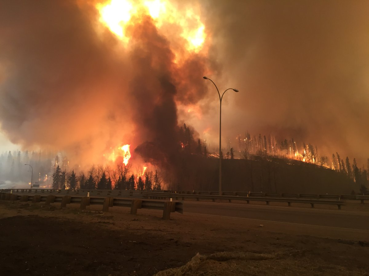 The Fort McMurray wildfire as it started burning the city on May 3, 2016. The wildfire was Edmonton's most-read story of the year.
