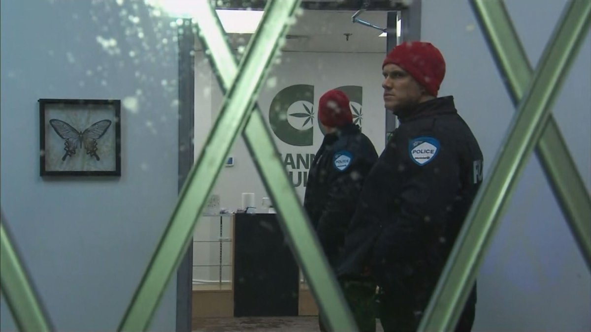 Montreal police raided Cannabis Culture locations in Montreal, Friday, December 16, 2016.