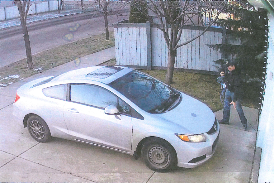 Edmonton police are asking for the public's help to identify a suspect who allegedly stole Christmas decorations from a home on Summerside Drive on Nov. 28.