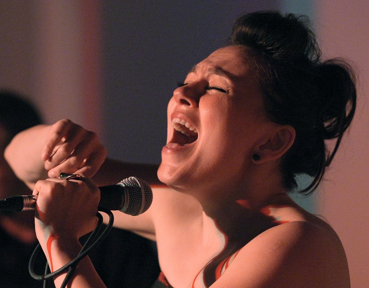 Canadian Inuit throat singer Tanya Tagaq performs songs from her new album at a private event at the Fehely Fine Art gallery in Toronto, May 20, 2014  .