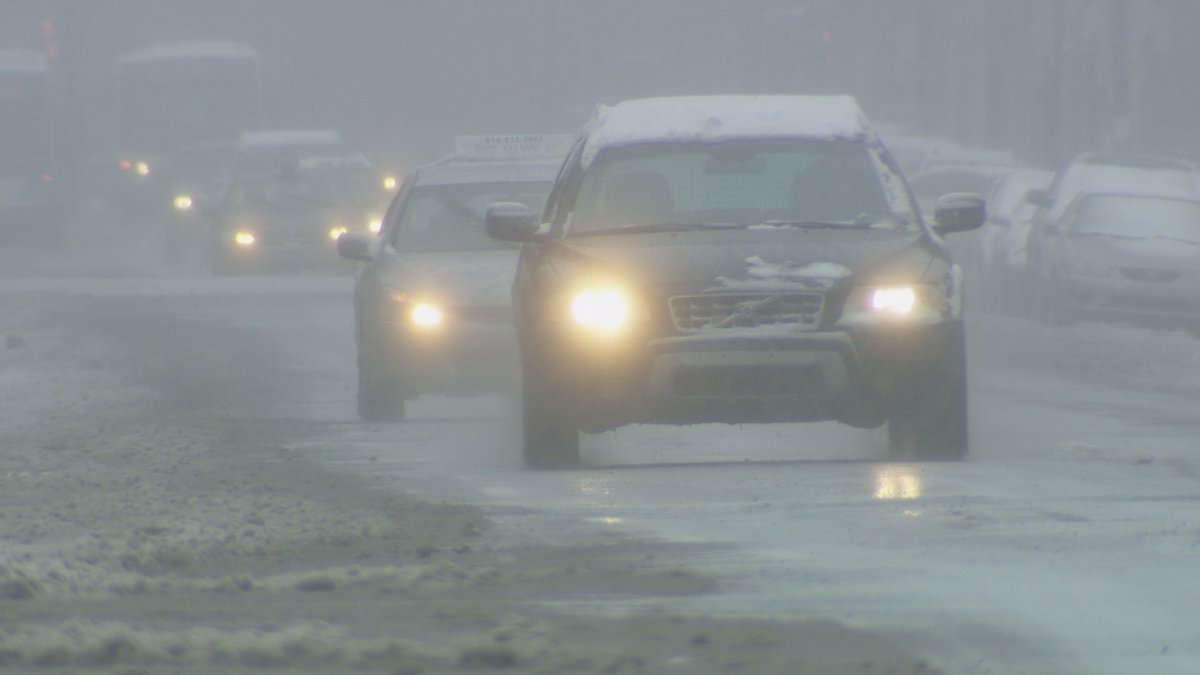 London police, the OPP and the CAA are urging drivers to exercise caution in winter weather conditions.