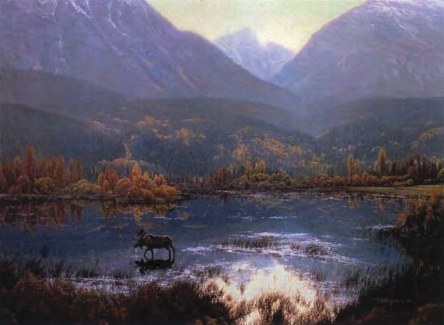 """""""Canadian Autumn,"""" one of the pieces of art stolen in September, according to Alberta RCMP."""
