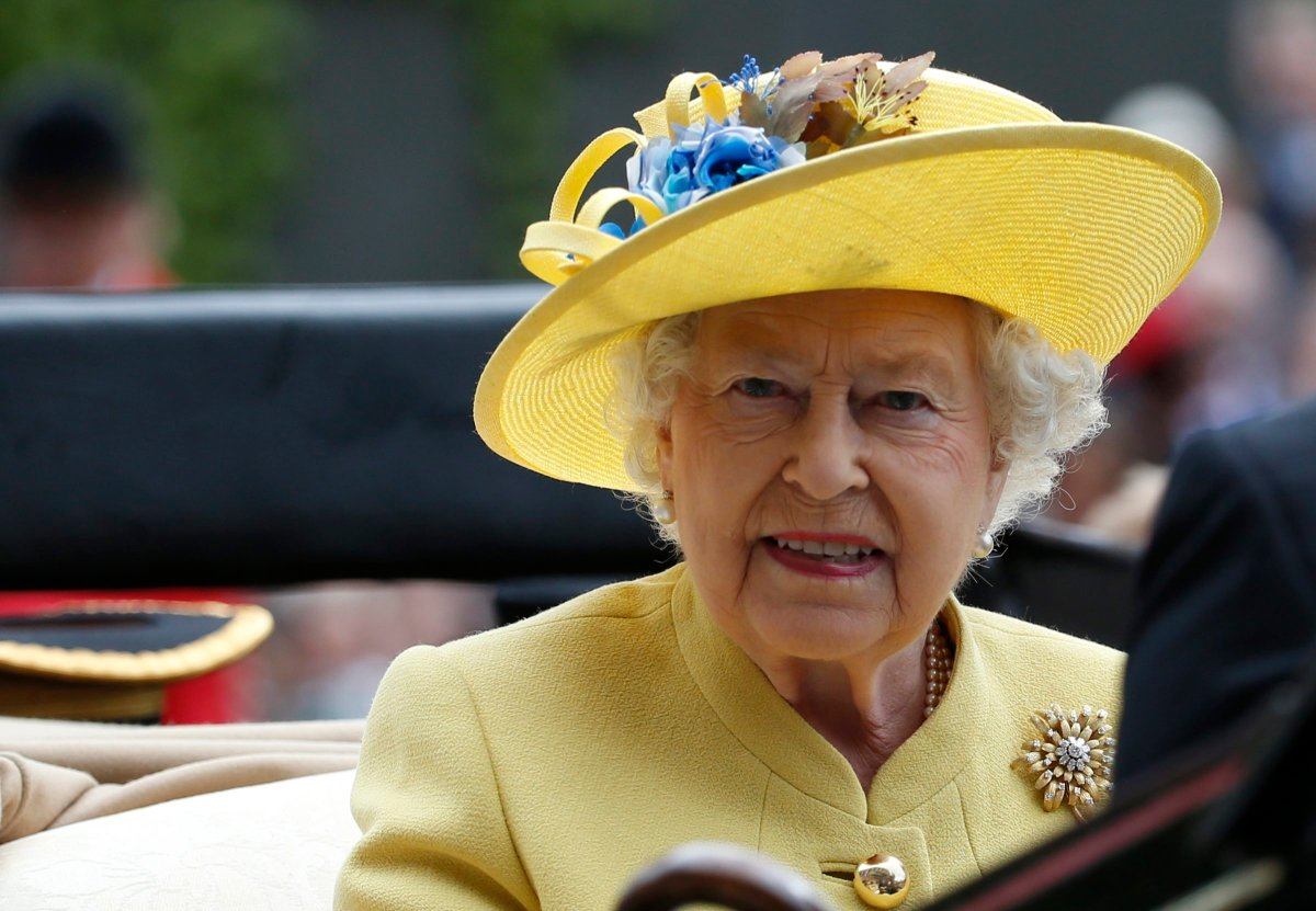 This is a Tuesday, June, 14, 2016 file photo of Britain's Queen Elizabeth II as she arrives by carriage on the first day of the Royal Ascot horse race meeting at Ascot, England.