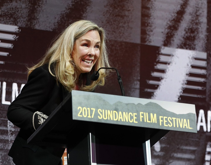 Producer Catherine Bainbridge speaks after winning the World Cinema Documentary: Special Jury Award for Master Storytelling during the 2017 Sundance Film Festival Awards Ceremony in Park City, Utah, USA, 28 January 2017. The festival runs from 19 to 29 January.