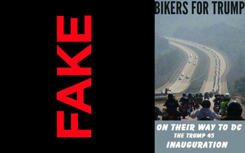 Images purporting to show hordes of bikers descending on Washington were taken years ago in other parts of the world.