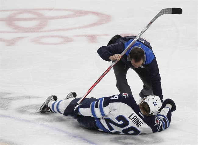 Winnipeg Jets forward Patrik Laine was hit and got a concussion in 2017. Concussions and other traumatic brain injuries are associated with a higher risk of suicide, according to a new study.