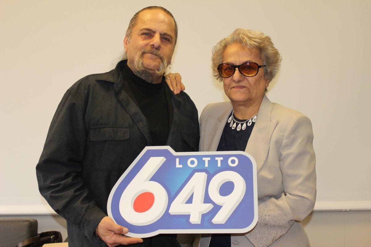 Winnipeg's Bahadur Sultani and Aghdas Mehdizadeh, with their $5.3 million lotto 6/49 prize.
