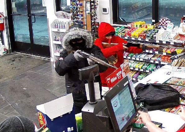 RCMP are searching for two males who they say robbed a Co-op gas bar in Blackfalds, Alta. on Thursday, Jan. 5, 2017.