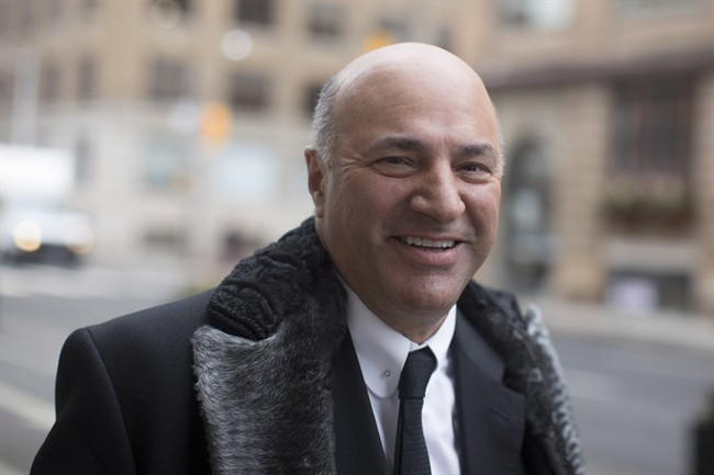 Newly announced Federal Conservative leadership candidate Kevin O'Leary arrives at a television studio for an interview in Toronto on Wednesday January 18, 2017. THE CANADIAN PRESS/Chris Young.