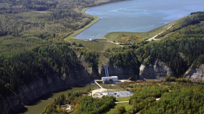 TransAlta's largest hydro plant Brazeau dam is shown in this undated handout image.